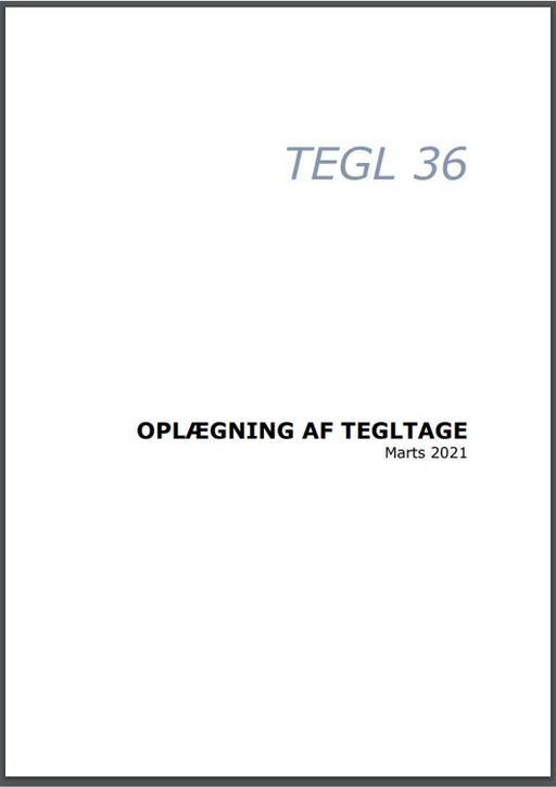Tegl 36. Oplægning af tegltage
